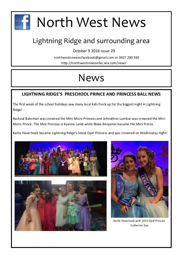 Issue 29 Issue 29 of North West News
