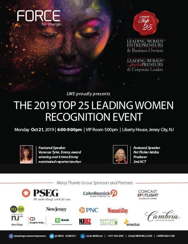 2019 Top 25 Leading Women Recognition Event Program 2019-LWE-Oct21_program