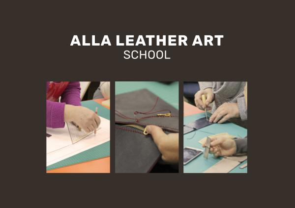 Alla Klingman's Leather Handbag Sewing Course - Final Projects 1