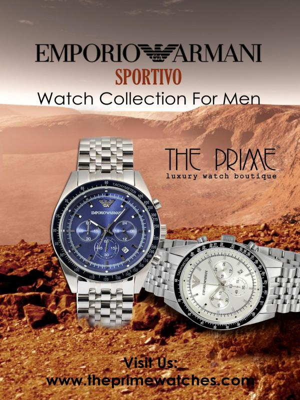 Emporio Armani Sportivo Watch Collection For Men Emporio Armani Sportivo Watch Collection For Men