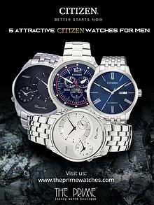 5 Attractive Citizen Watches For Men