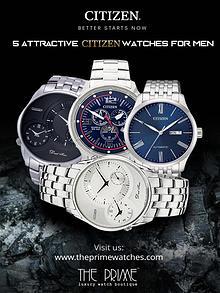 5 Attractive Citizen Watches For Men