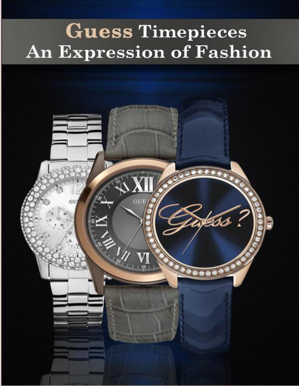 Guess Timepieces – An Expression of Fashion Guess Timepieces – An Expression of Fashion