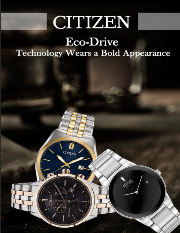 Citizen Eco-Drive – Technology Wears a Bold Appearance Wears a Bold Appearance