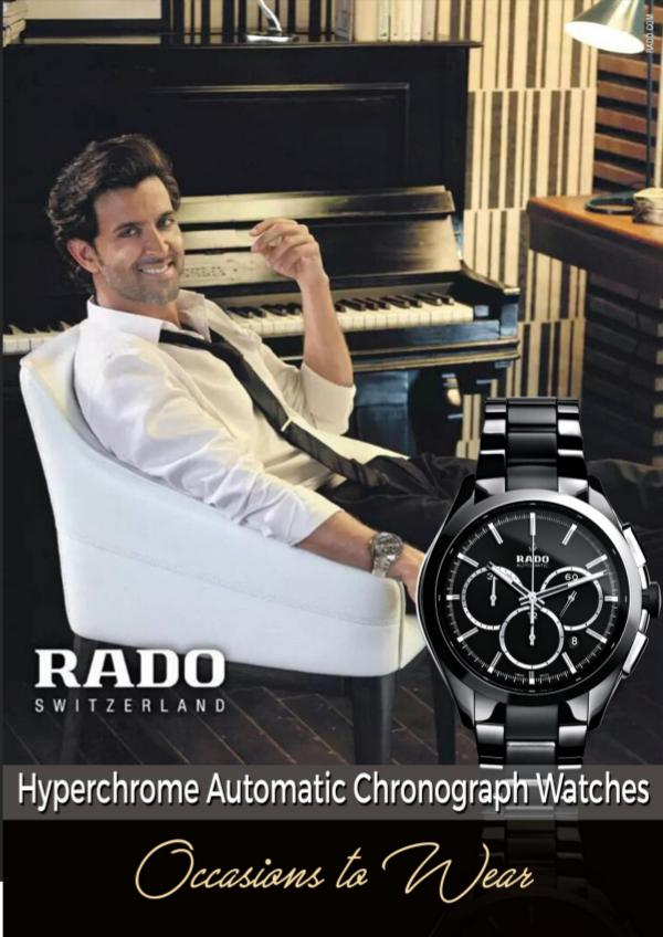 Rado HyperChrome Automatic Chronograph Watches – Occasions to Wear Occasions to Wear