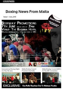 Malta Boxing Council News Issue 1 - June. 2013