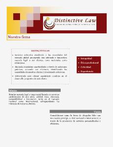 Distinctive Law I