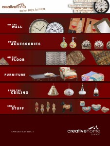 Creative Home 2013 Catalogue     PRODUCTS vol.9