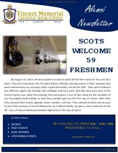 VMCHS Alumni Newsletter October 2013