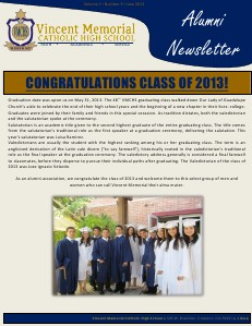 VMCHS Alumni Newsletter June 2013