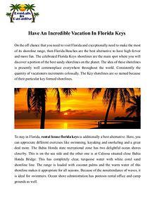 Rental house florida keys