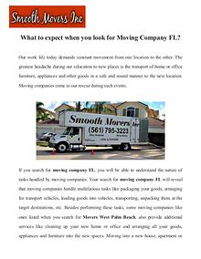 Moving company west palm beach