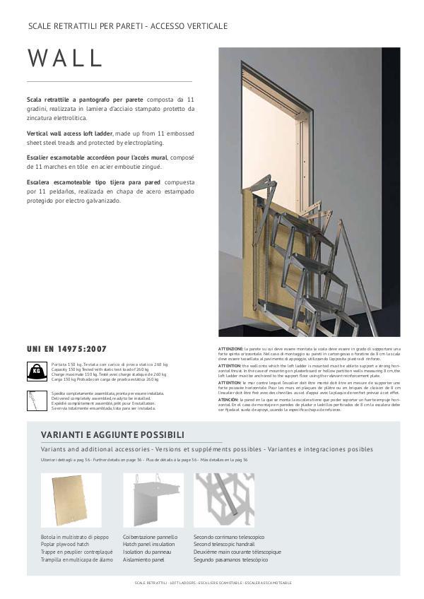 scale retrattili per pareti - accesso verticale