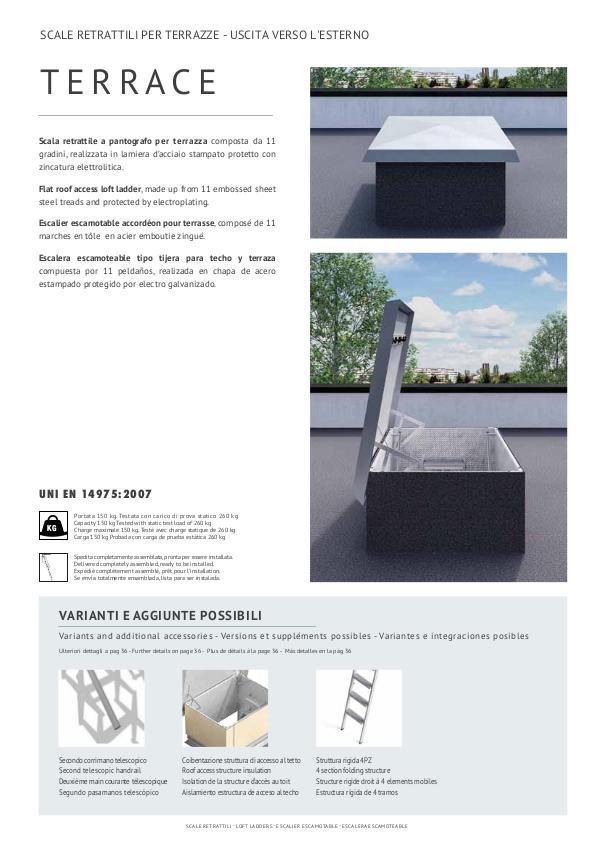 scale retrattili per tetti e terrazze uscita verso