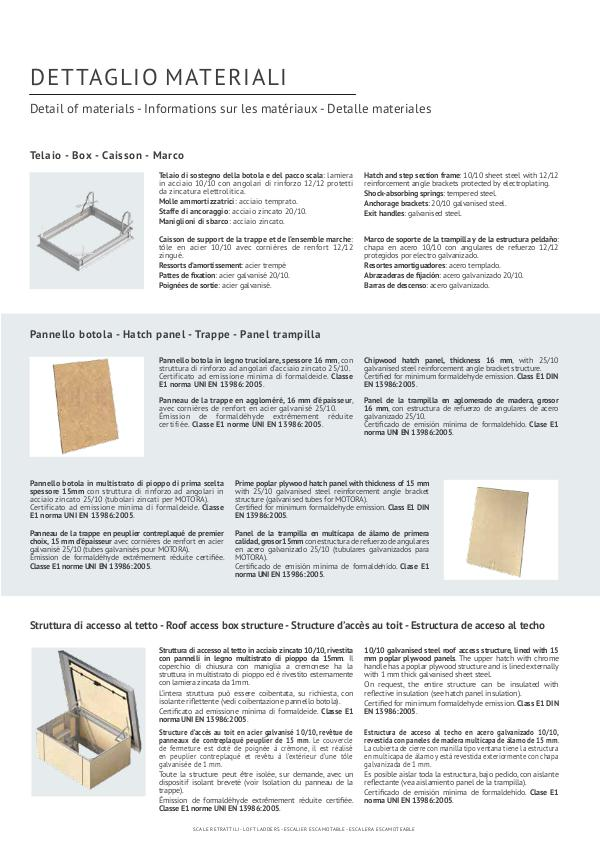 scale retrattili Scale retrattili dettaglio materiali utilizzati