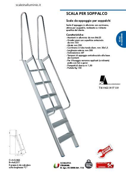 Scale in alluminio scale per soppalchi joomag newsstand - Scale per soppalchi ...