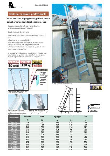 Scale per soppalchi in alluminio