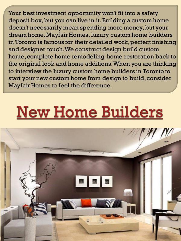 Home Builders Toronto New Home Builders Joomag Newsstand