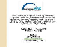 Water Desalination Equipment Market: growth in water desalination com