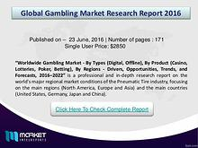 Global GAMBLING   Market 2016 Research Report