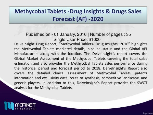 Methycobal Tablets -Drug Insights, 2016 1