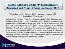 Alcohol Addiction-Global API Manufacturers