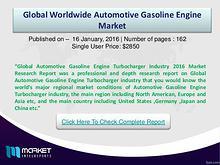 Automotive Gasoline Engine Market Analysis