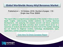 Heavy Aklyl Benzenes Market Overview