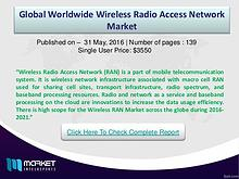 Wireless RAN Market: Germany is the major country for cloud radio acc