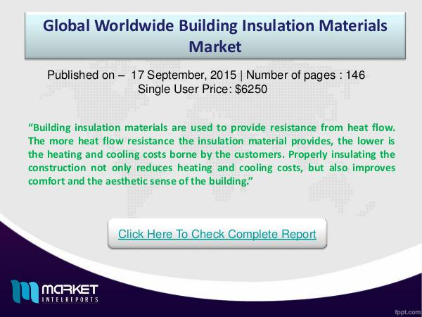 Global Building insulation Market s
