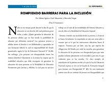 ROMPIENDO BARRERAS PARA LA INCLUSIÓN