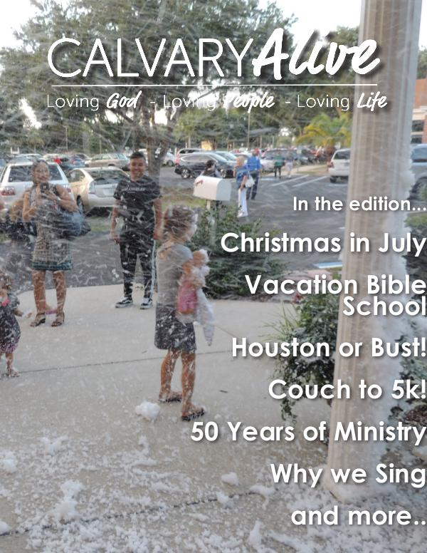 2017 July Calvary Alive Newletter
