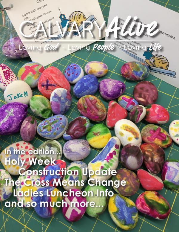 2018 April, Calvary Alive 2018 April final