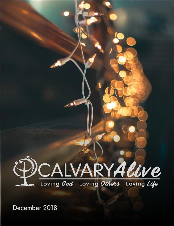 Calvary Alive, Dec 2018 December 2018 Newsletter