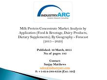 Milk Protein Concentrate Market analysis