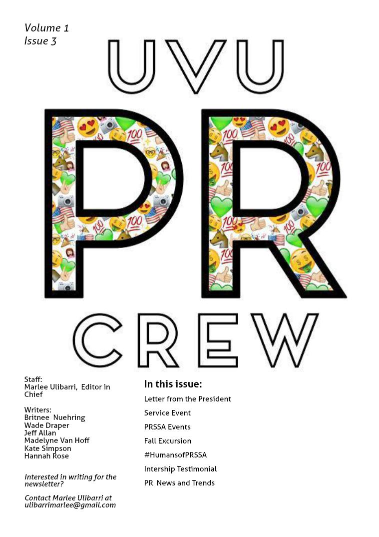 UVU PR CREW Issue 3