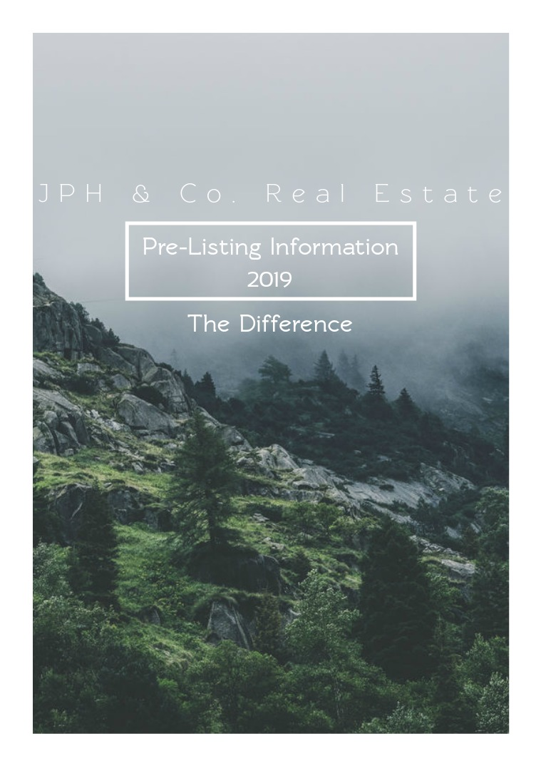 JPH & Co. Real Estate Pre-Listing Information(clon