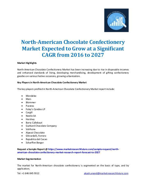 Market Research Future - Premium Research Reports North-American Chocolate Confectionery Market-2027