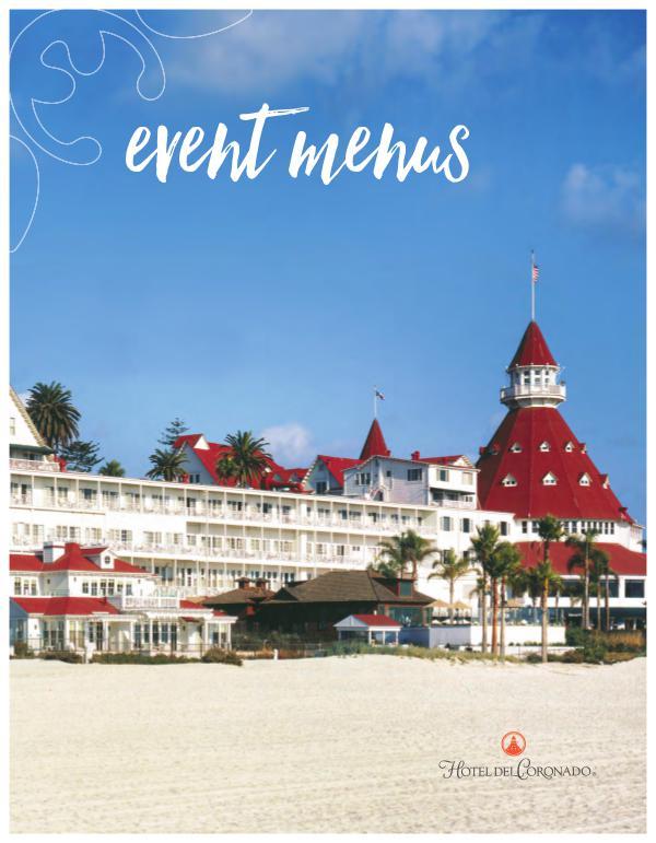 Hotel del Coronado Event Menus Hotel del Coronado Event Menus