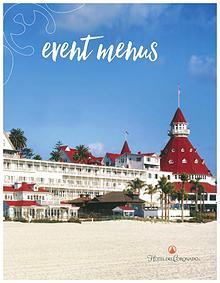 Hotel del Coronado Event Menus