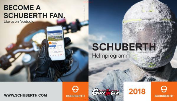 Zubehör und Bekleidung Schuberth Helme 2018
