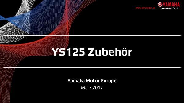 Yamaha Zubehör YS 125 (MY17) Zubehör