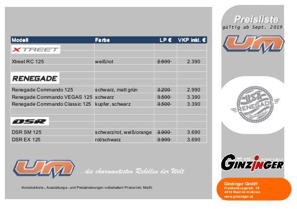United Motors Preisliste