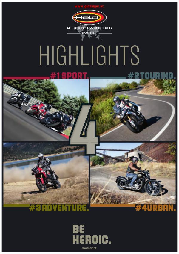 HELD 2018 Kataloge Biker Fashion