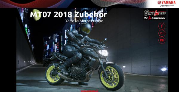 Yamaha Zubehör MT07 (MY18) Zubehör