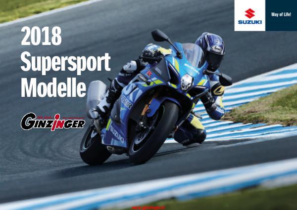 Suzuki Modelle bei Zweirad Ginzinger Suzuki Supersport 2018