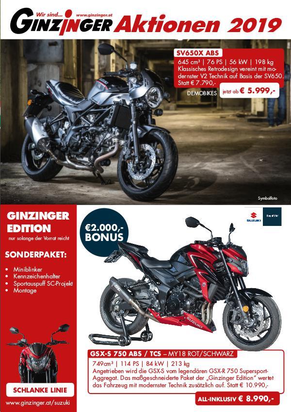 Ginzinger Motorrad Aktionen 2019