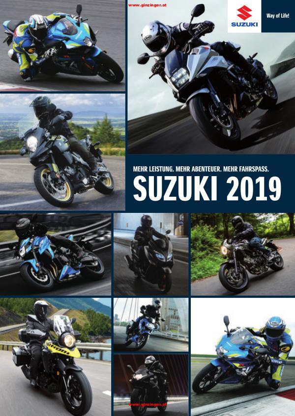Suzuki Modelle bei Zweirad Ginzinger Suzuki 2019 Katalog