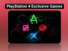 Play Station 4 Exclusive Games