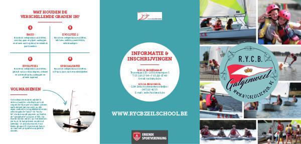Brochures R.Y.C.B. zeilschool & Training - 2018 RYCB-Zeilschool folder 2018